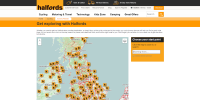Halfords cycle journey planner